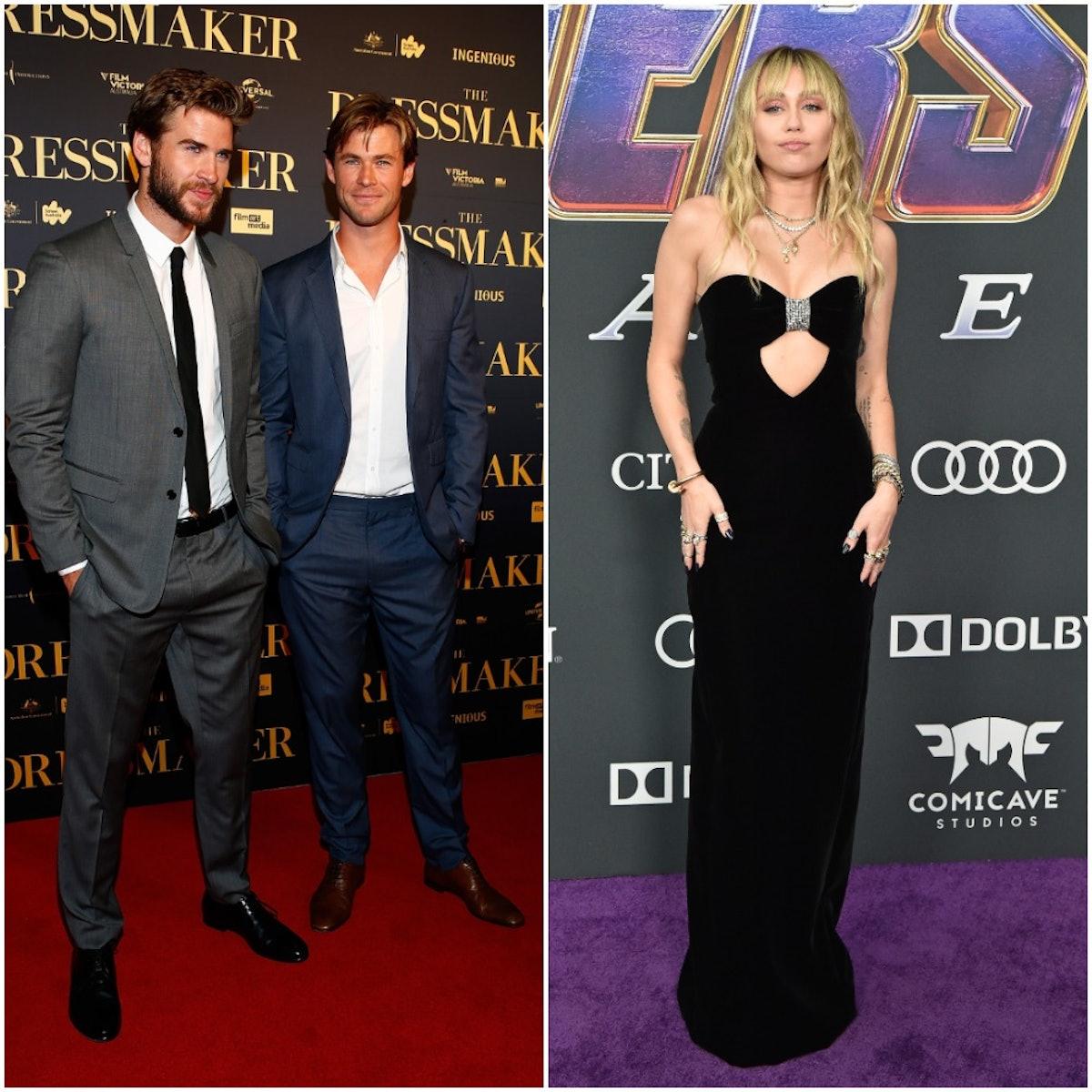 Liam Hemsworth, Chris Hemsworth, Miley Cyrus