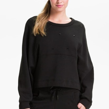 black studded sweatshirt