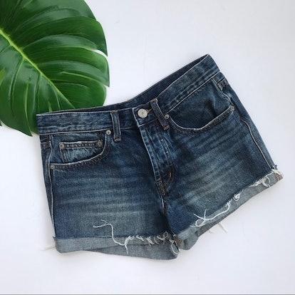 Tom Girl Mid Rise Denim Shorts
