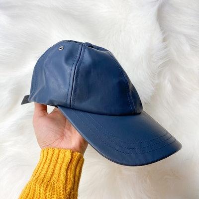 Rue Madame Paris Faux Leather Baseball Cap Hat