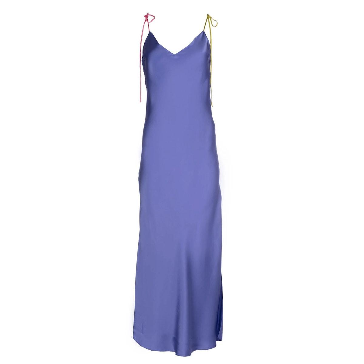 Violette Tie Strap Silk Dress