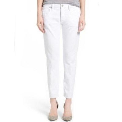 White Emerson Boyfriend Jeans