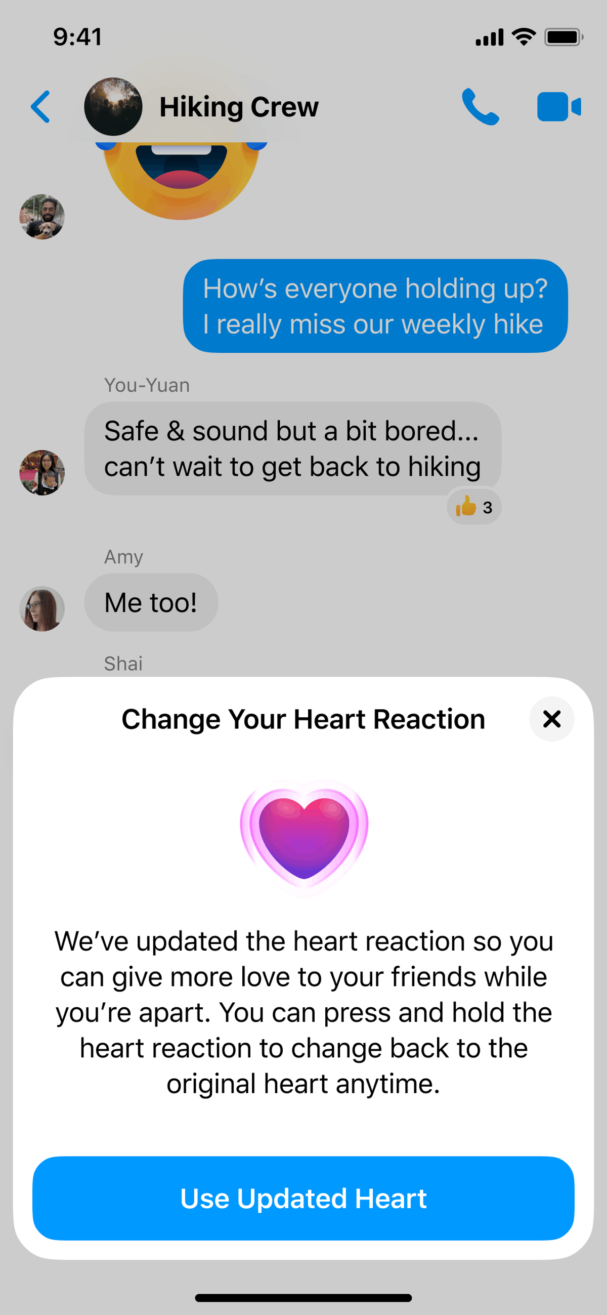 Facebook released a new hug reaction for posts, as well as a new reaction in Messenger.