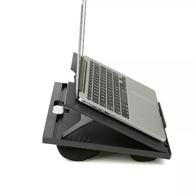 Adjustable Tilt Lap Desk with Cushion Black
