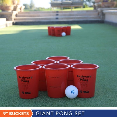 Jumbo Beer Pong Set for Outdoors