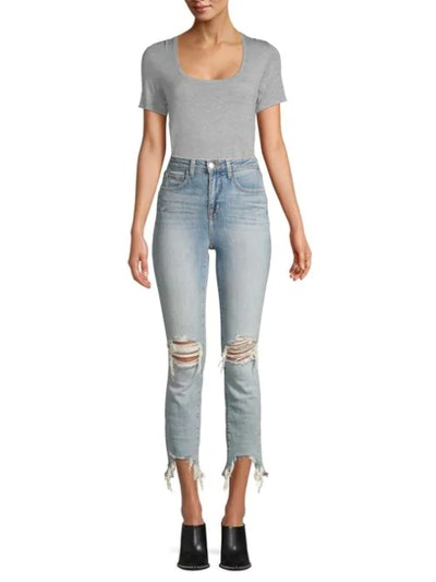 Highline High-Rise Skinny Distressed Jeans