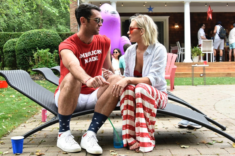 "SUMMER HOUSE -- ""Red, White and Ewwww"" Episode 404 -- Pictured: (l-r) Carl Radke, Lindsay Hubbard -- (Photo by: Eugene Gologursky/Bravo)"