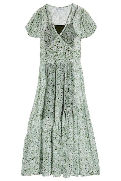 Topshop Daisy Mesh Midi Dress