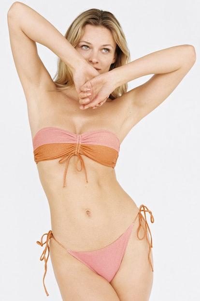 Metallic Thread Bikini Top