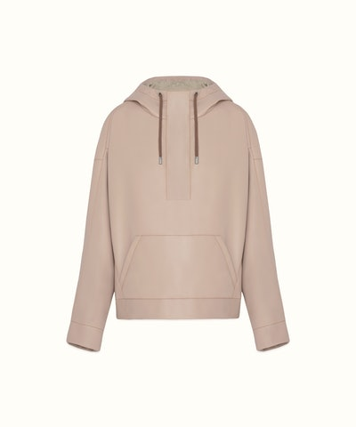 Oversized Faux Leather Hoodie