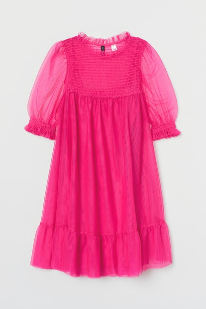 """""""To All the Boys"""" x H&M Smocked Mesh Dress"""
