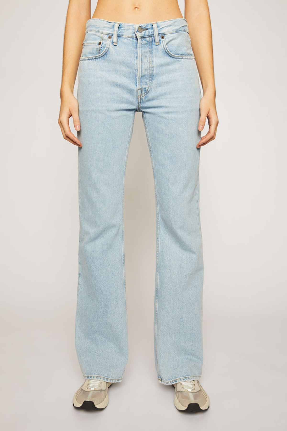 Relaxed Bootcut Jeans Pale Blue