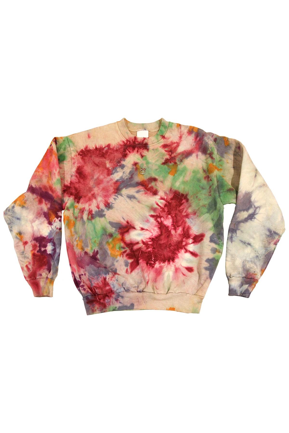 Pierced Crewneck Sweatshirt in 7420c Tie-Dye