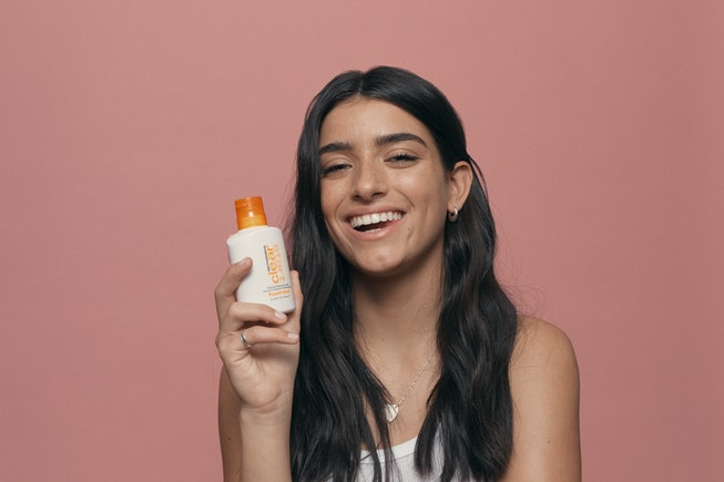 Dixie D'Amelio of TikTok fame poses in her first campaign as a Dermalogica ambassador.