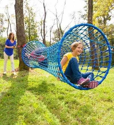 Blue Wave Hanging Woven Rope Tunnel