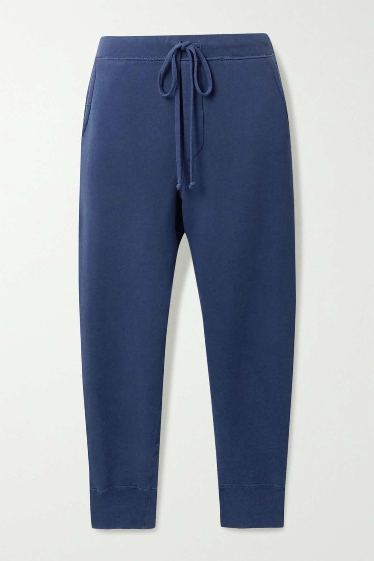 Nolan Cropped Distressed Cotton-Jersey Track Pants