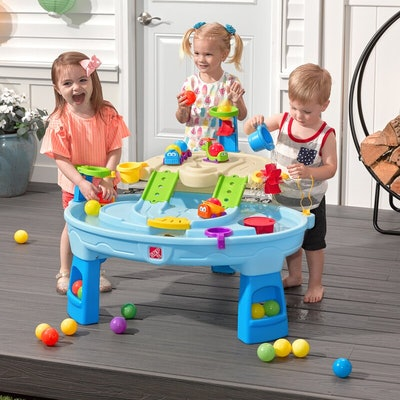 Round Plastic Sand And Water Table