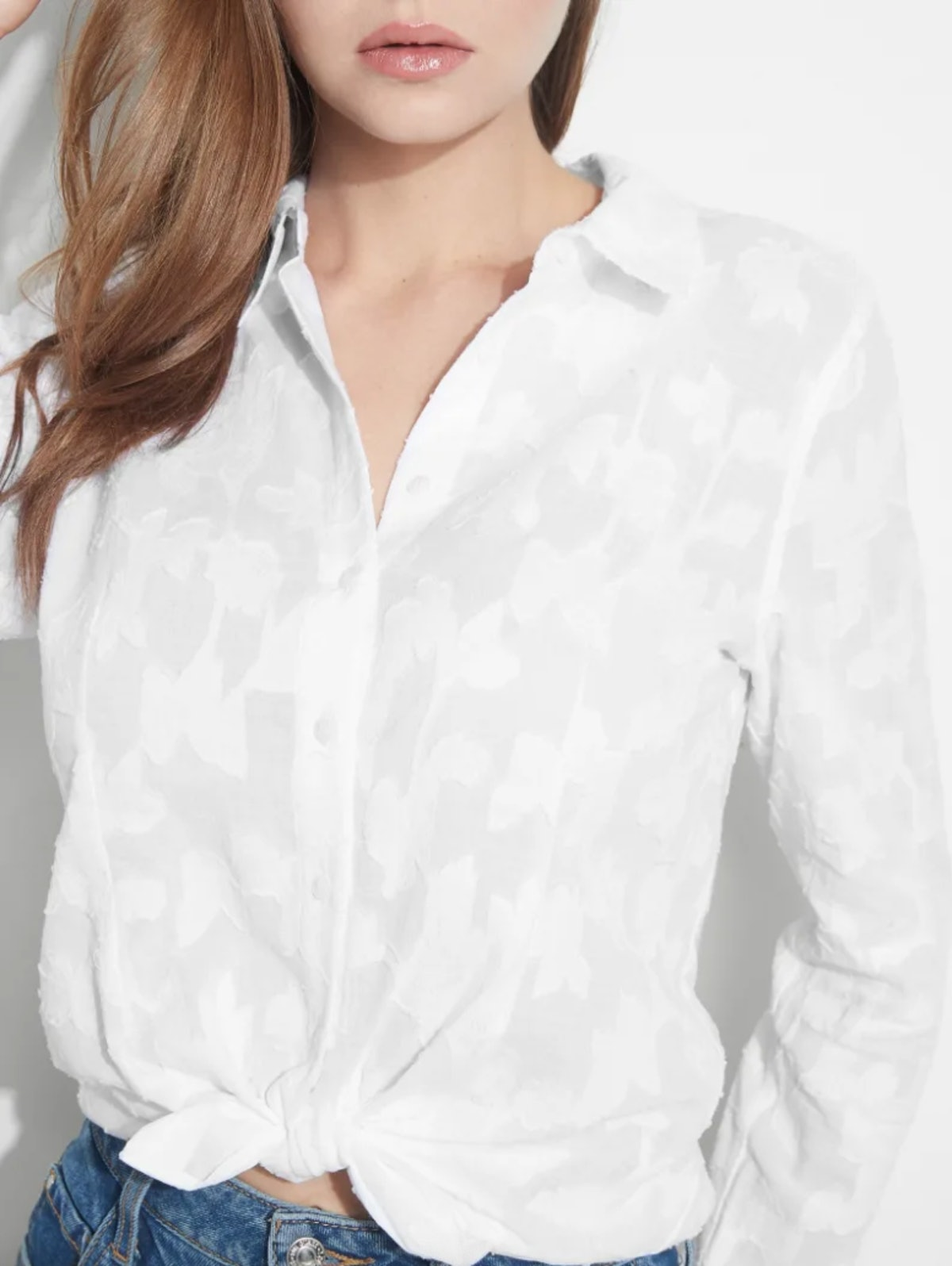 Guess Frederica Tie-Front Shirt