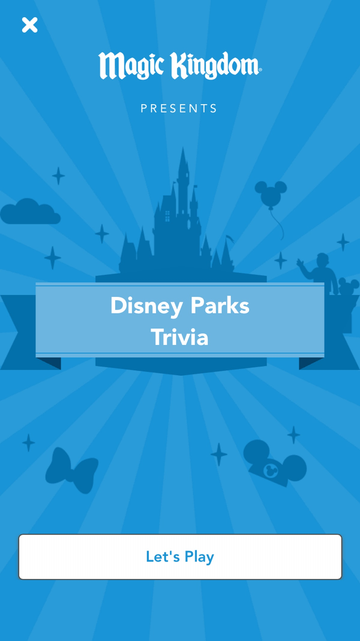 Cinderella's castle is at the center of a Disney parks trivia game.