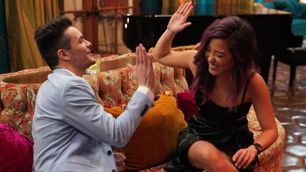'Listen To Your Heart' contestants high-five