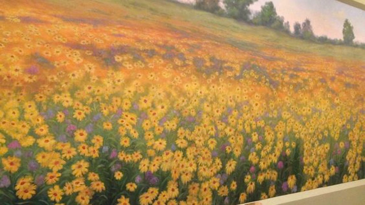 """Looking for Zoom backgrounds for first dates? The wildflower mural from """"Parks & Rec"""" is a winner."""