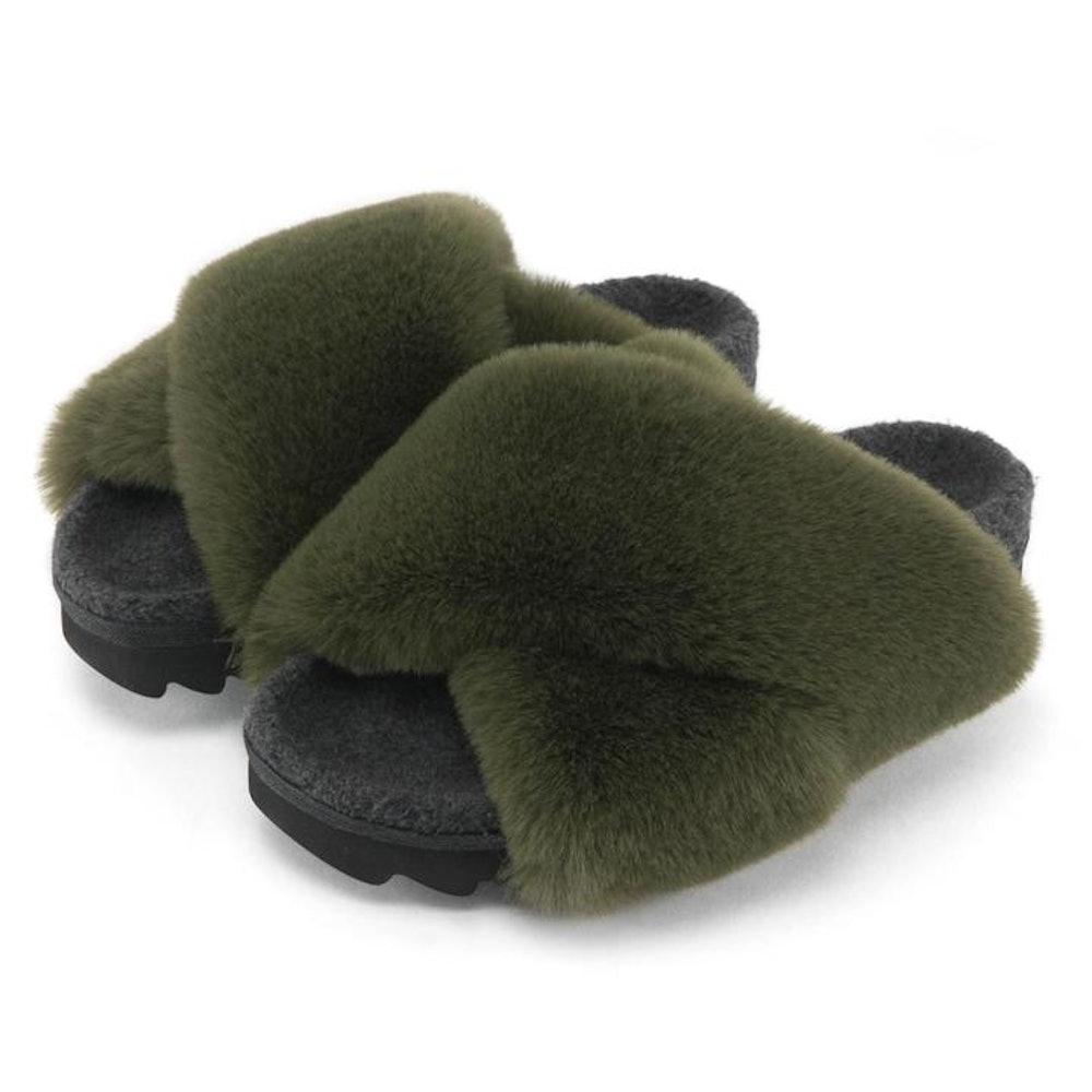 Cloud Khaki Slippers