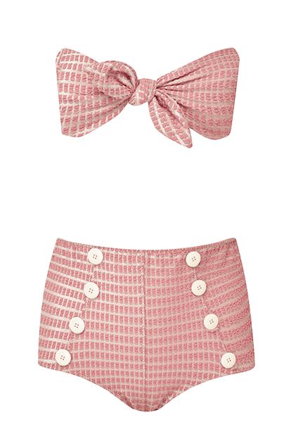Poppy Pink Jacquard Bikini