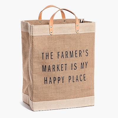 Apolis The Farmer's Market Is My Happy Place Market Bag