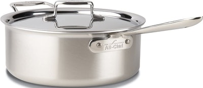 All-Clad Stainless Steel Deep Saute Pan with Lid (6 Quart)