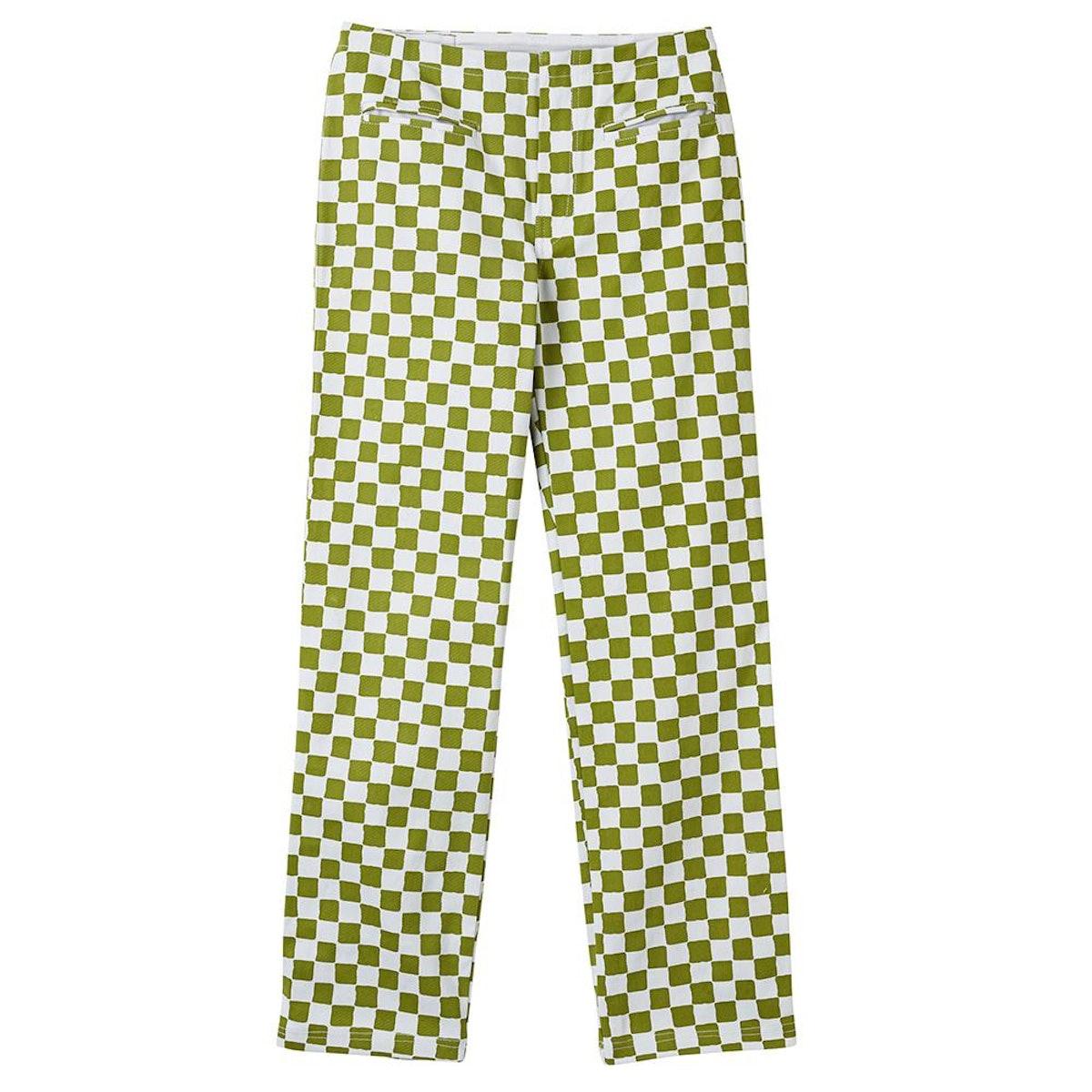 Kokomo Pants Check Olive Green