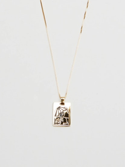 Long Cage Necklace