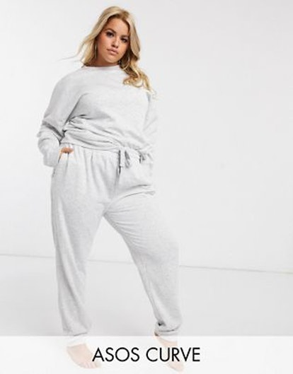 ASOS Design Curve Lounge Sweat & Jogger Set