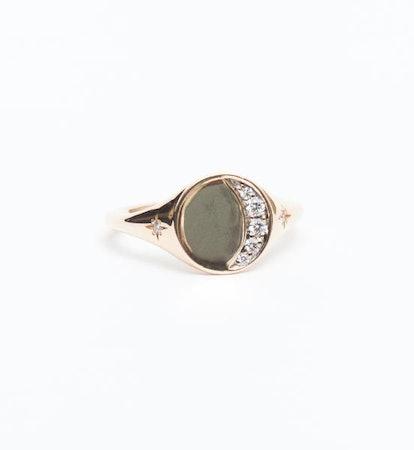 Crescent Moon Signet Ring