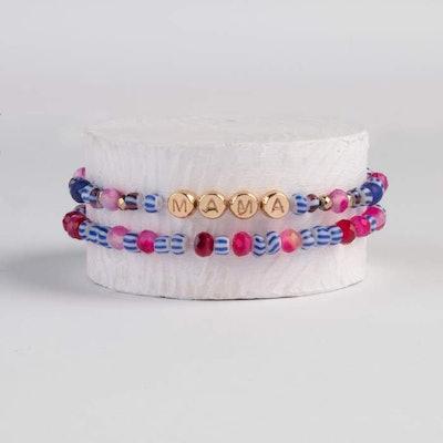 Gemstone Mama Bracelet Set