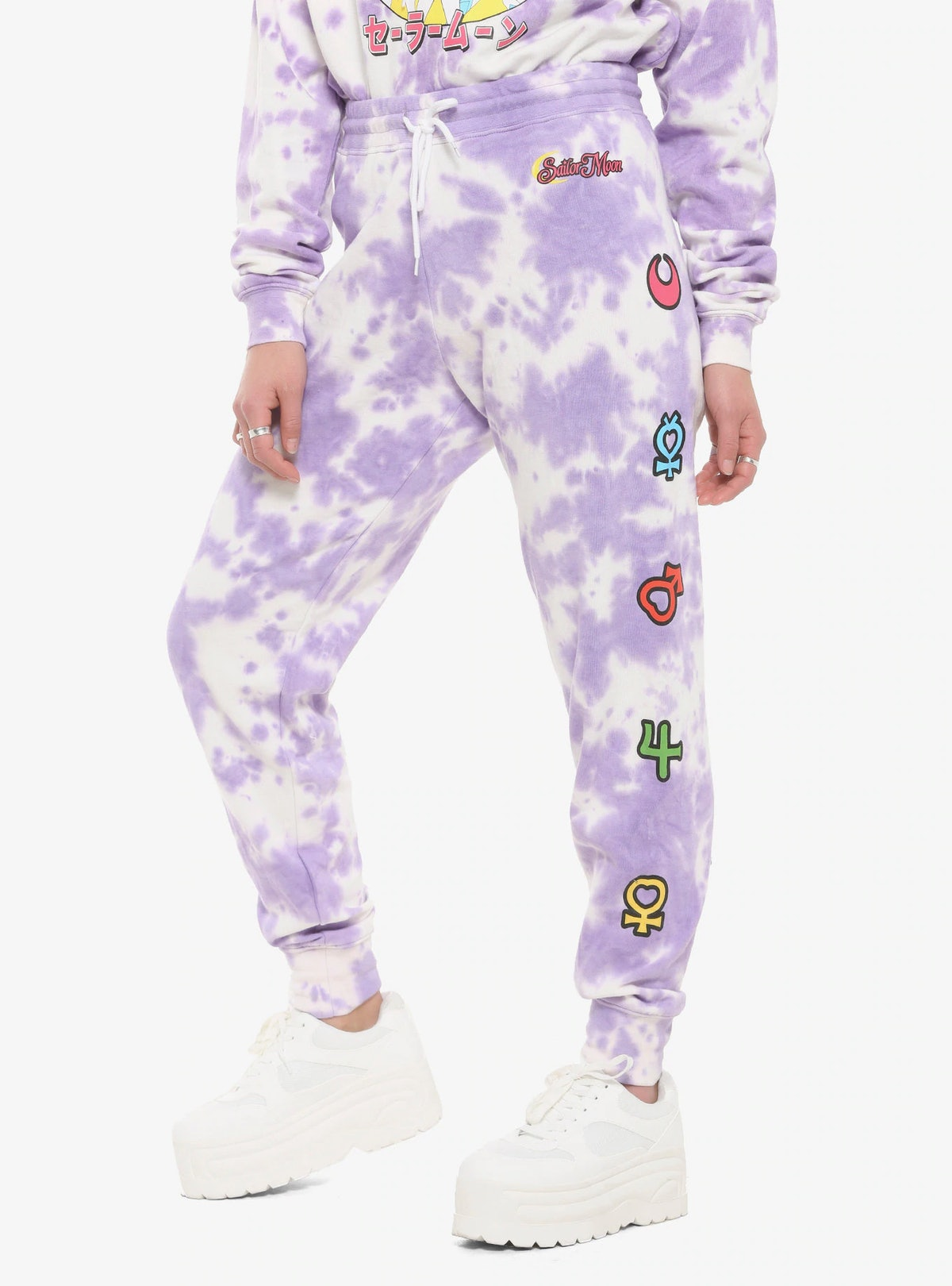Hot Topic Sailor Moon Purple Tie-Dye Girls Sweatpants