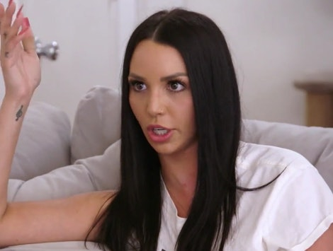 Scheana talking to Dayna about the psychic she hired on 'Vanderpump Rules.'