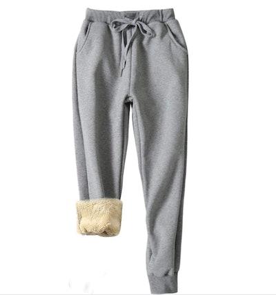 Yeokou Sherpa-Lined Sweatpants