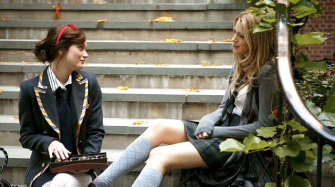 Leighton Meester and Blake Lively in 'Gossip Girl'