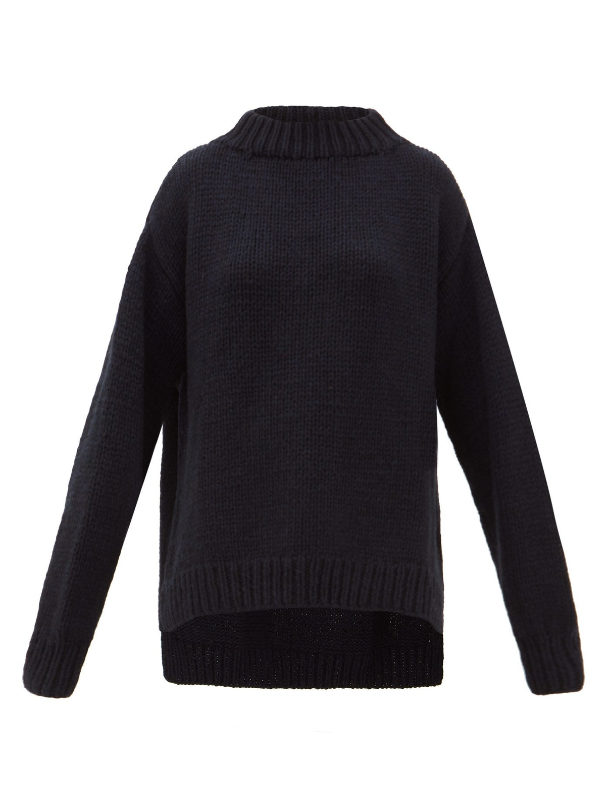 Oversized Chunky-Knit Cashmere Sweater