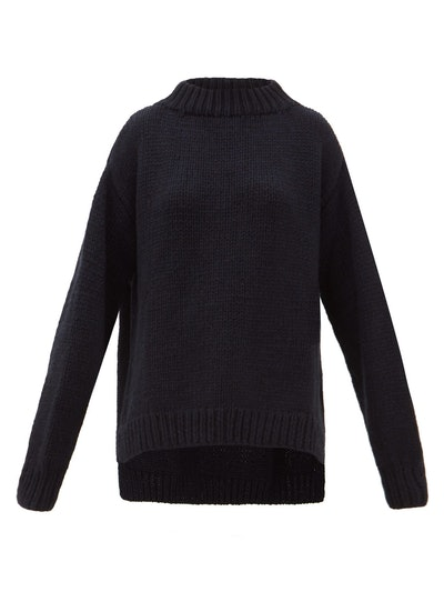 Oversized Chunky-Knit Cashmere Sweater