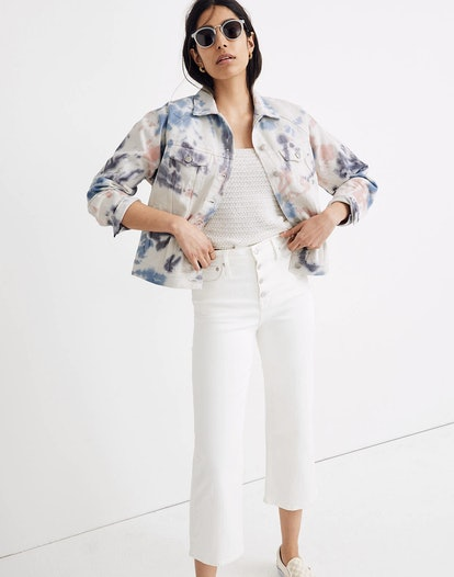 The Raglan Oversized Jean Jacket: Tie-Dyed Edition