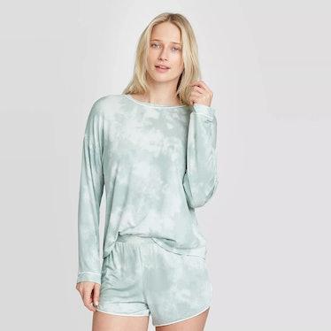 Stars Above Women's Tie-Dye Beautifully Soft Long Sleeve Pajama Set