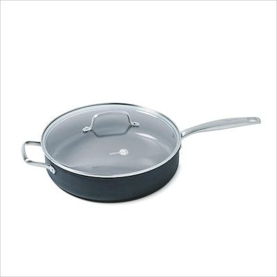 GreenPan Chatham Ceramic Non-Stick Covered Saute Pan with Handle Helper (5 Quart)