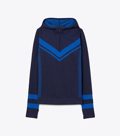 Seamless Chevron Half-Zip Pullover