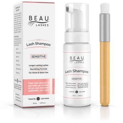 Beau Lashes Eyelash Extension Foam Cleanser Shampoo and Brush