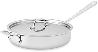 All-Clad Stainless Steel Tri-Ply Bonded Saute Pan with Lid (3 Quart)