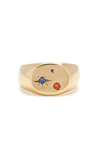 Gold-Vermeil Seal Signet Ring