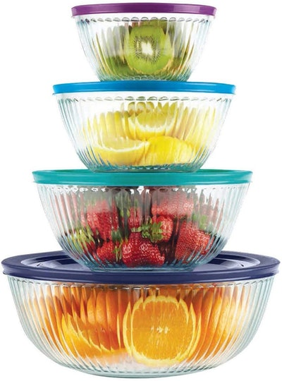 Pyrex 4-Piece Glass Mixing Bowl Set