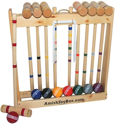 AmishToyBox.Com Deluxe Croquet Game Set (8-Player)