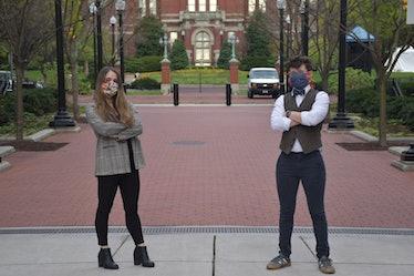 Alyssa Cawley and Katie Heinemann have organized volunteers to make PPE to fight the coronavirus